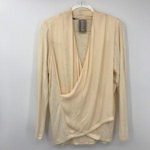 Dolan Large Cream Surplice Long Sleeve Shirt USA